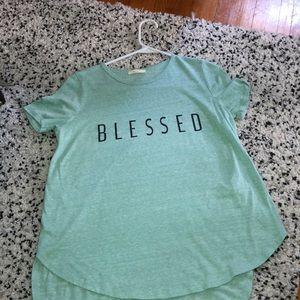 Blessed, back slit shirt